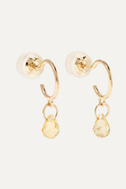 14-karat gold citrine earrings