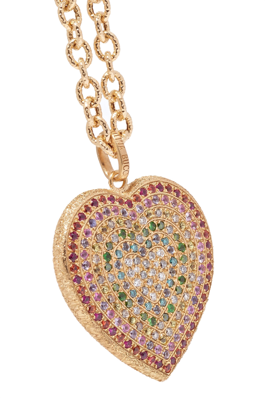 Carolina Bucci Kette aus 18Karat Gold mit mehreren Steinen