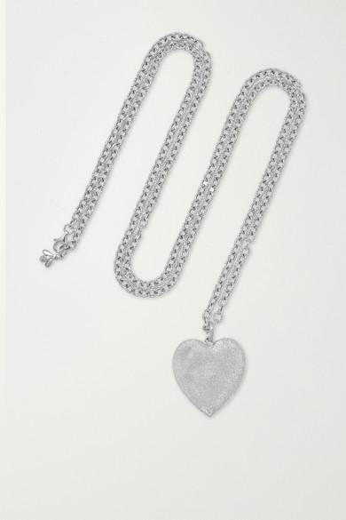 CAROLINA BUCCI | Carolina Bucci - Cuore 18-karat White Gold Necklace - one size | Goxip