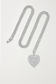 Cuore 18-karat white gold necklace