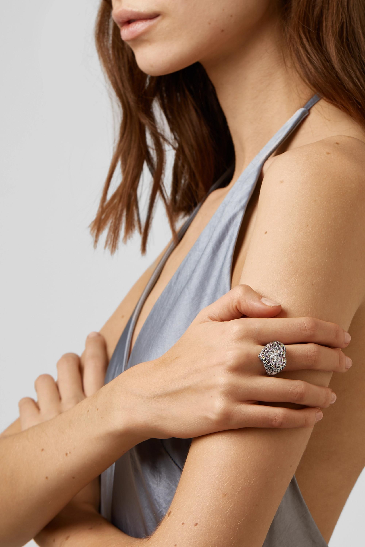 Carolina Bucci Heart 18-karat white gold multi-stone ring