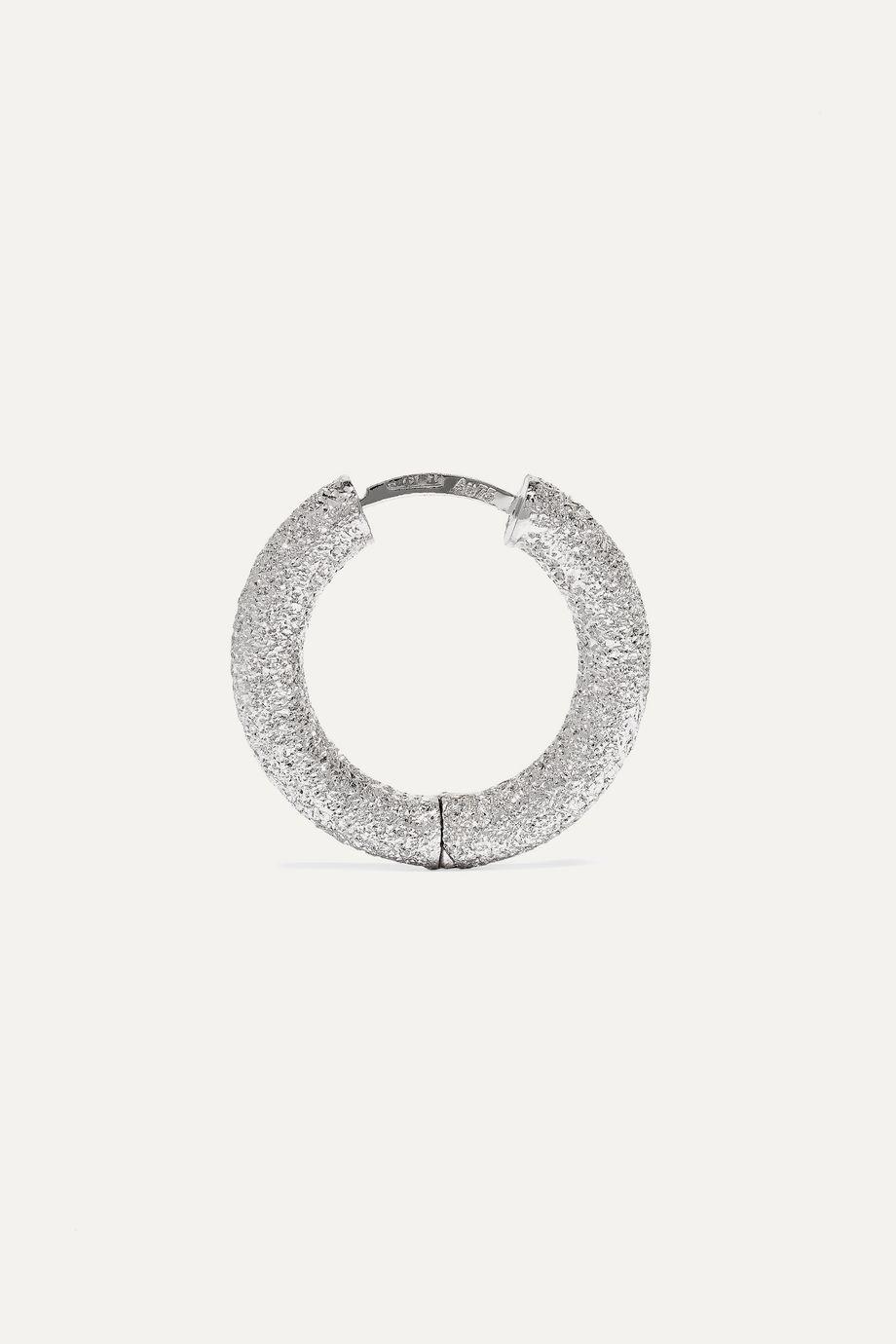 Carolina Bucci Florentine 18-karat white gold hoop earrings