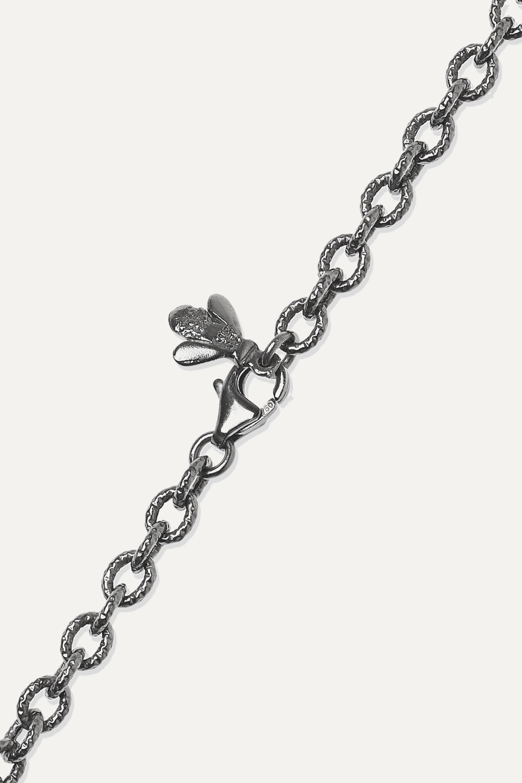 Carolina Bucci Florentine 18-karat blackened gold multi-stone necklace