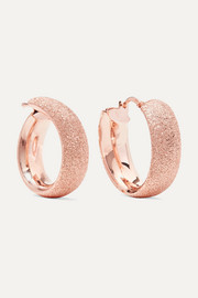 Florentine 18-karat rose gold hoop earrings