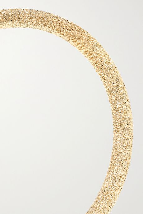 Gold Florentine 18-karat gold hoop earrings   Carolina Bucci Sqbdmg