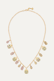 Carolina Bucci 18-karat gold multi-stone necklace