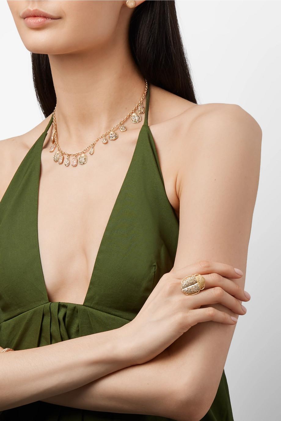 Carolina Bucci Scarab 18-karat gold diamond ring