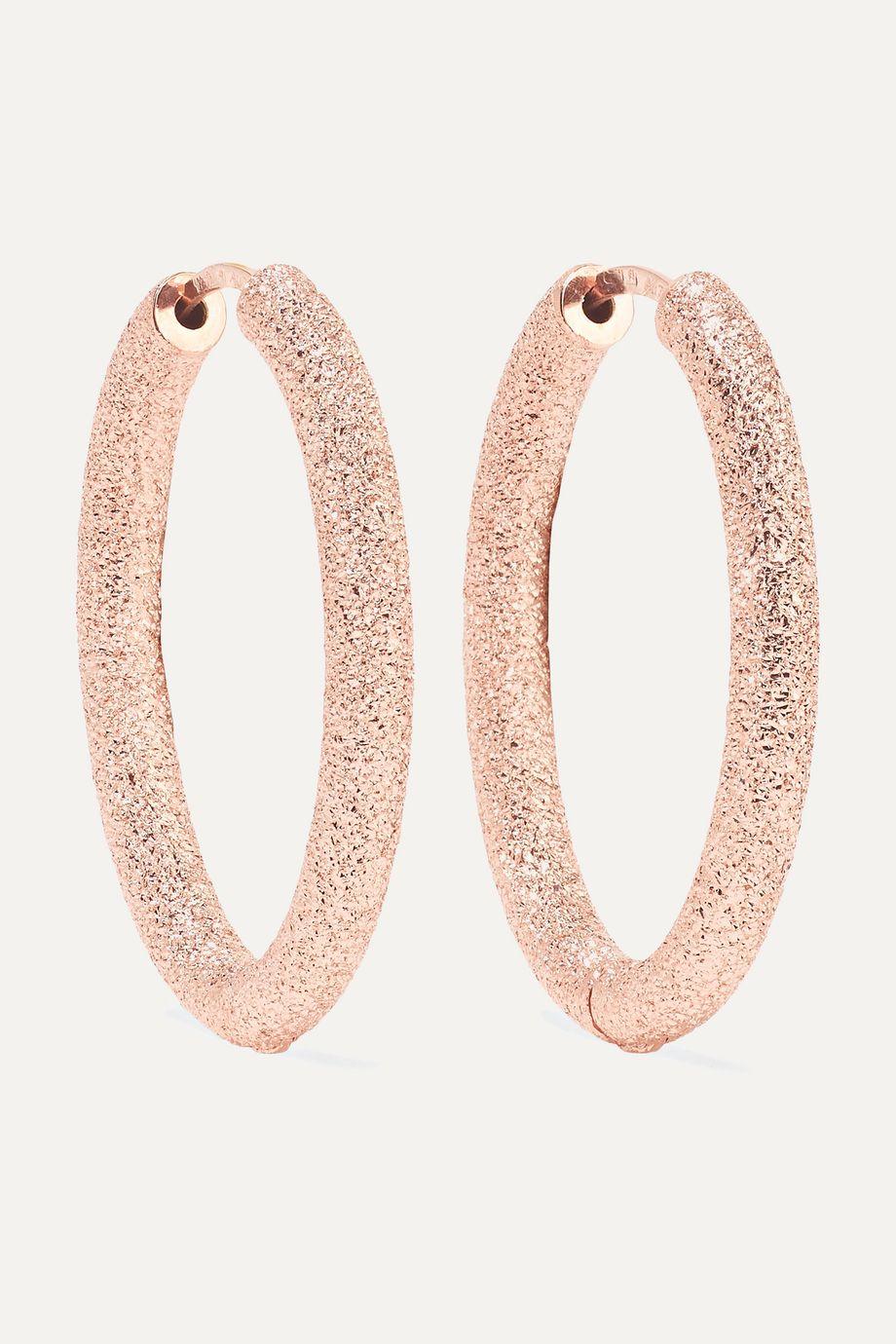 Carolina Bucci Florentine 18-karat rose gold hoop earrings