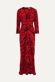 Adriana animal-print silk maxi dress