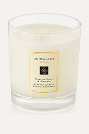 English Pear & Freesia Scented Home Candle, 200g