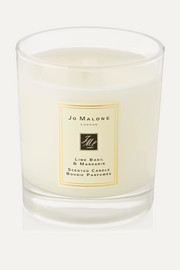 Lime Basil & Mandarin Scented Home Candle, 200g