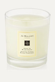 Peony & Blush Suede Scented Home Candle, 200g