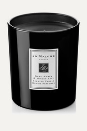 Dark Amber & Ginger Lily Scented Home Candle, 200g