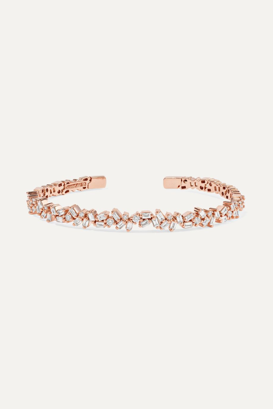 Suzanne Kalan Bracelet en or rose 18carats et diamant
