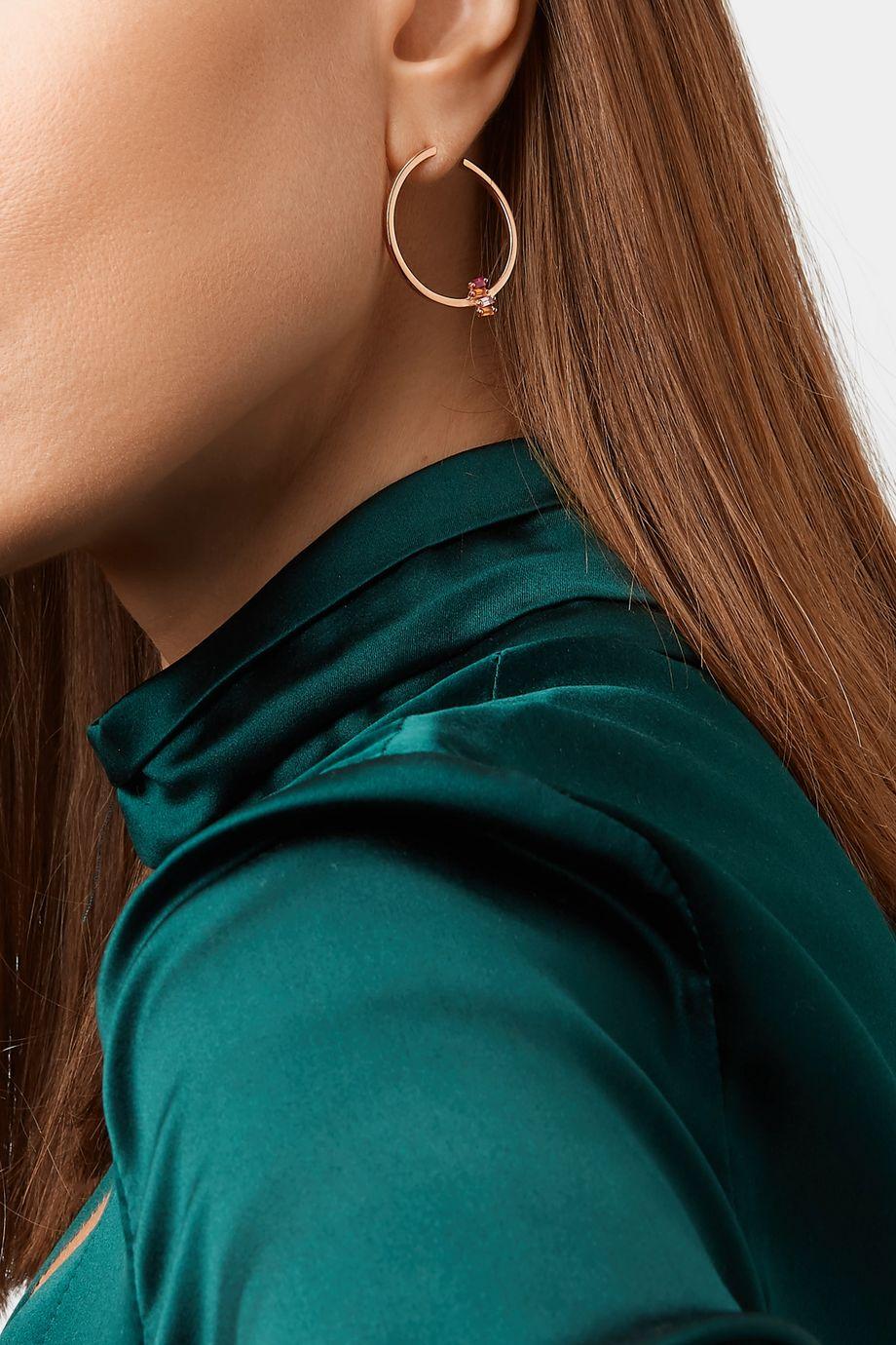 Suzanne Kalan Boucles d'oreilles en or rose 18 carats et saphirs