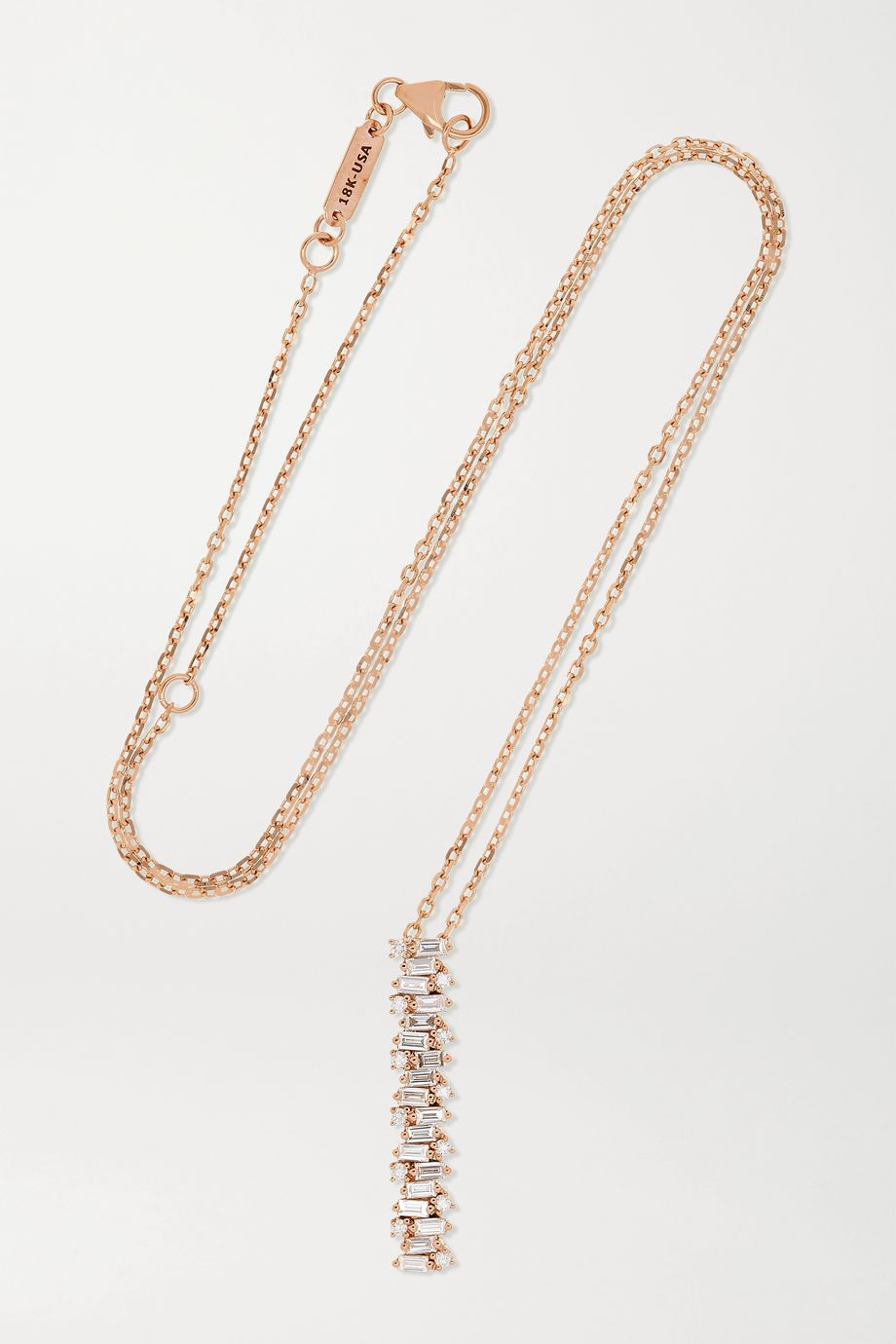 Suzanne Kalan Collier en or rose 18 carats et diamants