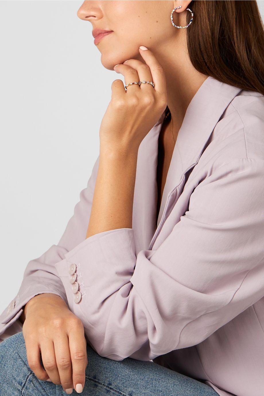 Suzanne Kalan Créoles en or 18 carats, saphirs et diamants