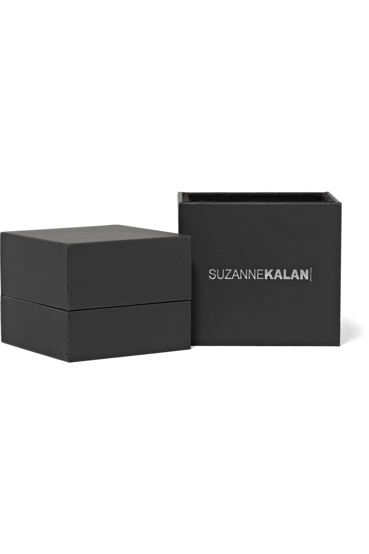 Suzanne Kalan 12 mm Creolen aus 18 Karat Gold mit Diamanten