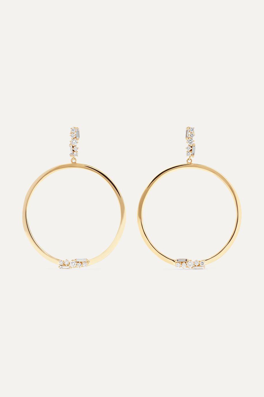 Suzanne Kalan Boucles d'oreilles en or 18 carats et diamants 30 mm