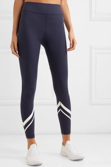 f7ea83142265d Tory Sport | Striped stretch-Tactel leggings | NET-A-PORTER.COM