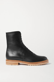 Ruben leather combat boots
