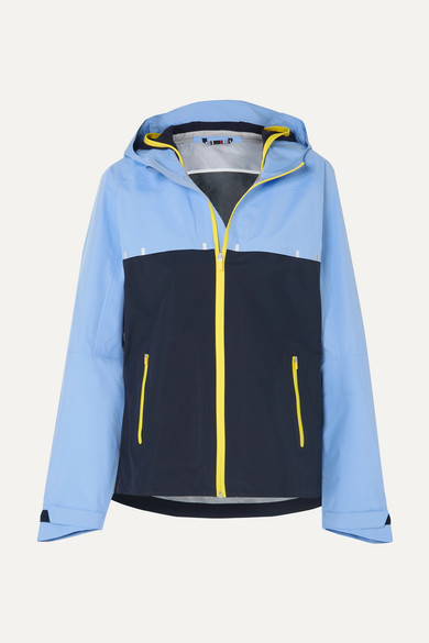 Tory Sport Jackets Color-block shell hooded jacket
