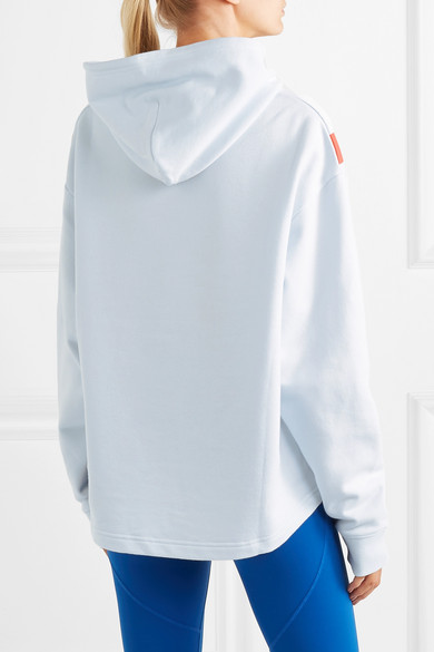 Tory Sport Accessories Oversized printed cotton-terry hoodie
