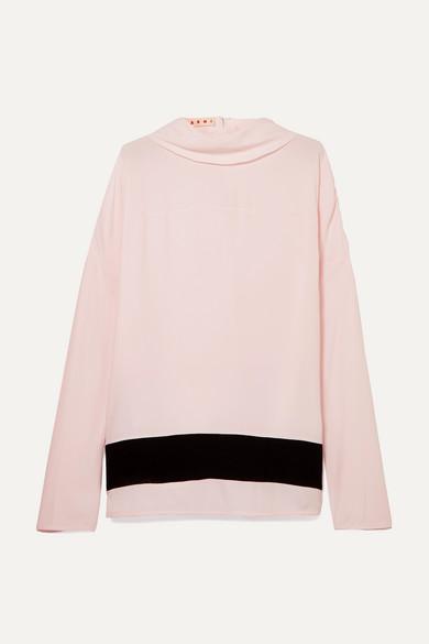 efa7b9b033a8f Marni. Striped crepe de chine blouse