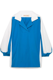 Two-tone cotton-poplin shirt