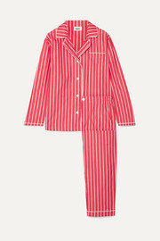 Bishop striped cotton-poplin pajama set