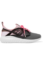 Fly-By rubber and leather-trimmed neoprene sneakers