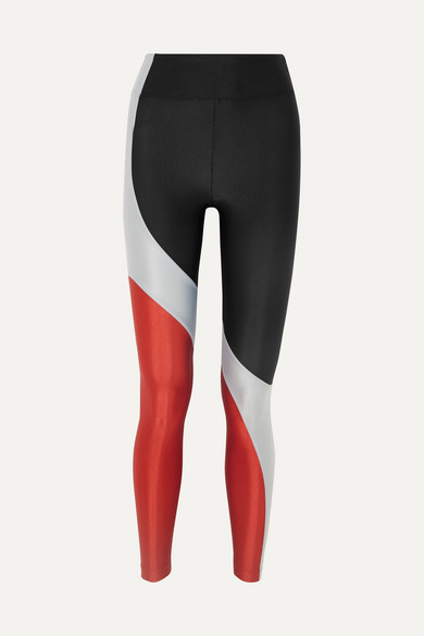 d4ccd35bd91b9 Koral | Charisma metallic color-block stretch leggings | NET-A ...