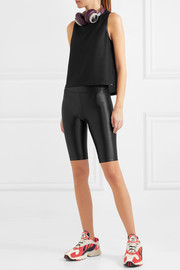Koral Muscle satin-trimmed stretch-mesh tank