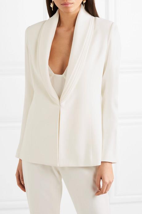 Layered crepe blazer