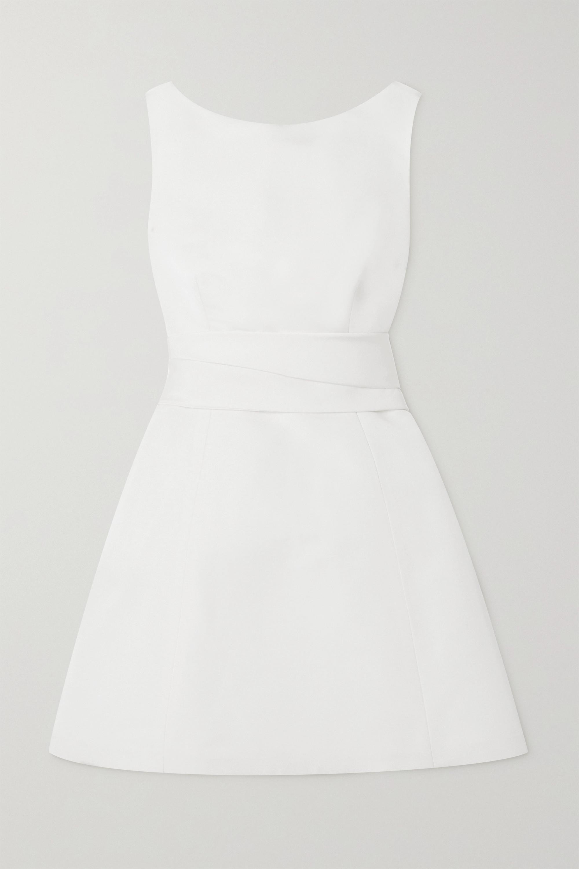 Brandon Maxwell Silk-faille mini dress