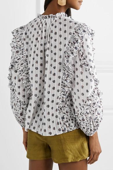 1a3bfcfdb50 Ulla Johnson. Kati floral-print cotton-gauze blouse.  295. Play