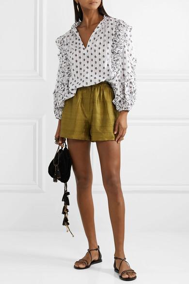 6f1ba48173e Ulla Johnson. Kati floral-print cotton-gauze blouse.  295