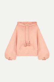 Mel tasseled cotton-terry hoodie