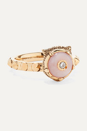 Gucci Le Marché des Merveilles 18-karat gold, diamond and opal ring