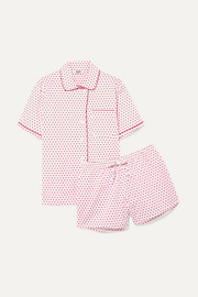 Corita printed cotton-poplin pajama set