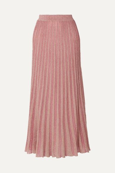 97b08e455ab1 Missoni | Metallic striped crochet-knit maxi skirt | NET-A-PORTER.COM