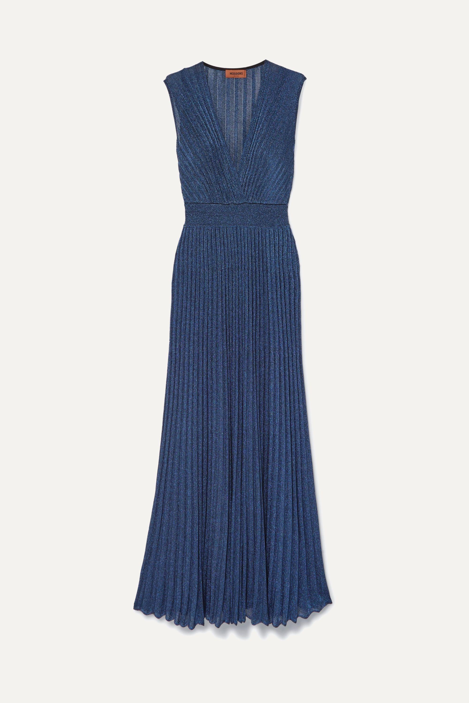 Missoni Pleated Lurex maxi dress