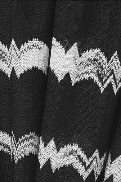 Missoni Knits Striped crochet-knit jumpsuit