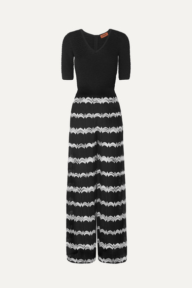 f683fd6282a Missoni. Striped crochet-knit jumpsuit