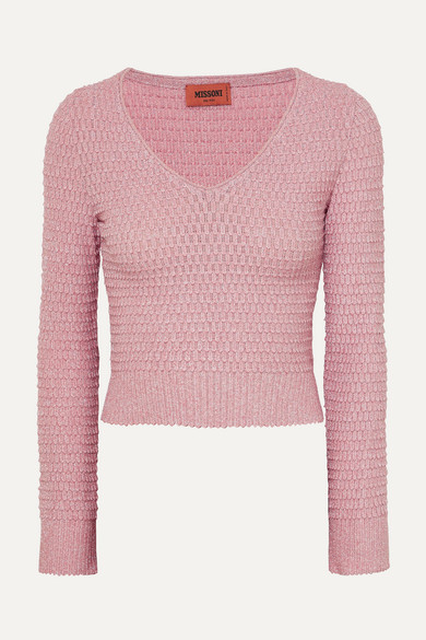 05b56787d60cb7 Missoni | Cropped metallic crochet-knit sweater | NET-A-PORTER.COM