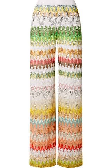 8c0f9974a1c79 Missoni - Crochet-knit Wide-leg Pants - Green