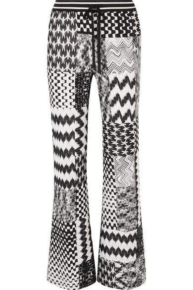 MISSONI   Missoni - Patchwork Crochet-knit Straight-leg Pants - Black   Goxip