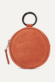 Circle Pop suede pouch