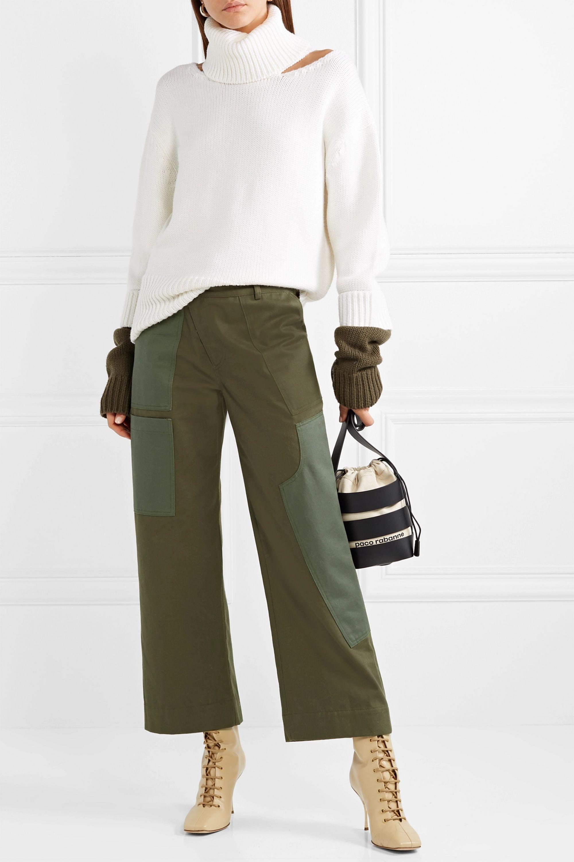 Monse Cotton-drill wide-leg pants
