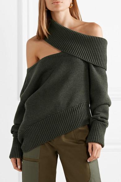 Oversized Cutout Wool Sweater by Monse